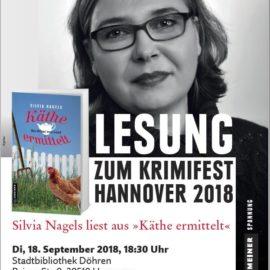 Lesung zum Krimifest 2018 in der Stadtbibliothek Döhren