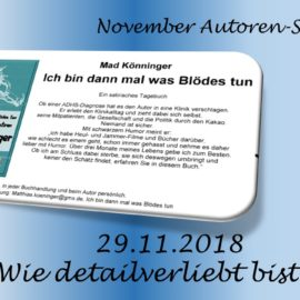 November Autoren Staffel Matthias Köninger